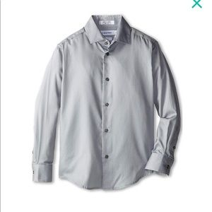 Calvin Klein Boys Grey Dress Shirt size 14